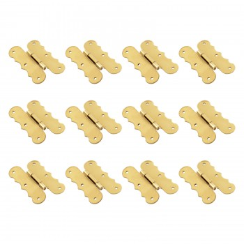 12 Offset Bright Solid Brass Solid Brass Scroll Cabinet Hinge