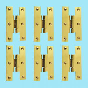 <PRE>3inch Solid Brass Cabinet H Hinge Offset PVD Long Lasting Finish Pack of 6</PRE>zoom2