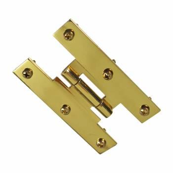 3 Solid Brass Cabinet H Hinge Offset PVD Long Lasting Finish Pack of 6 H Hinge H Hinges Brass Hinge