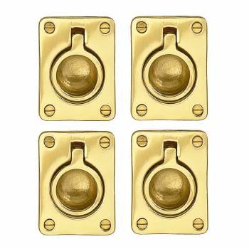 <PRE>4 Cabinet Pulsl Bright Solid Brass Ring  </PRE>zoom1