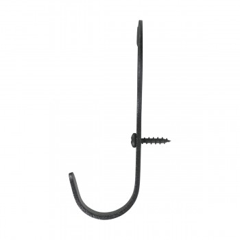 <PRE>3 Robe Hooks Black Wrought Iron Heart Shape </PRE>zoom7