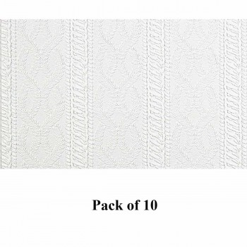 10 Wallpaper White Vinyl Textured Vinyl Embossed Wall Covering Greenwich