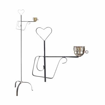 Wrought iron lamp base shade not included