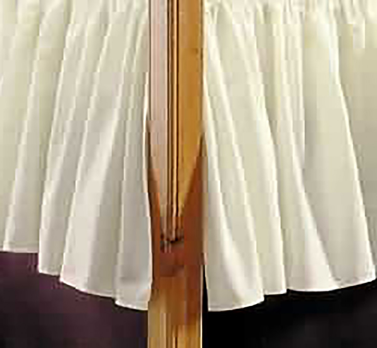 Dust Ruffle White CottonPolyester Twin Size Bed Skirt Bed Skirts Dust Ruffle