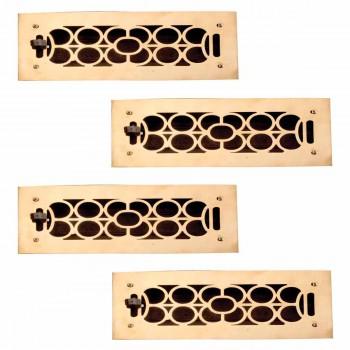 4 Register Bright Solid Brass Cast Brass Register
