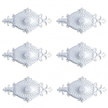 <PRE>6 Ceiling Medallion White Urethane 12inch H X 24&quot; W  </PRE>zoom1