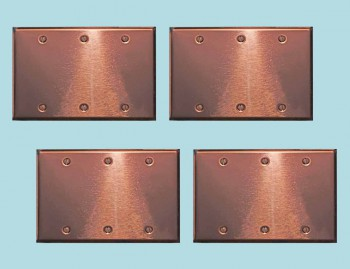 <PRE>4 Switchplate Bright Copper Triple Blank </PRE>zoom2