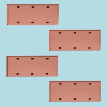 <PRE>4 Switchplate Brushed Solid Copper Triple Blank </PRE>zoom2