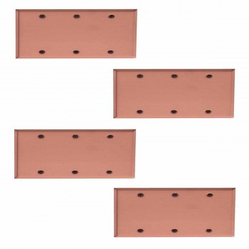 <PRE>4 Switchplate Brushed Solid Copper Triple Blank </PRE>zoom1