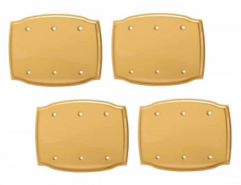 4 Switchplate Bright Solid Brass Triple Blank Switch Plate Wall Plates Switch Plates
