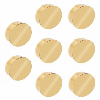 8 Flat End Caps for 2 Dia Tube Solid Polished Brass Set of 8 Tubing End Caps End Caps for Tubing Railing Caps