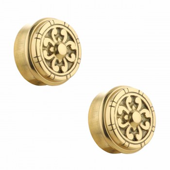 2 Fits 2 inch Polished Solid Brass Fits 2 in. RSF Brass Decorative End P