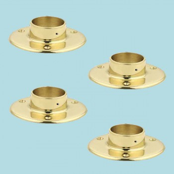 4 5 Floor Flange Solid Brass Fits 2 Tubing Bracket Bar Bracket Bar Hardware Mounting Brackets