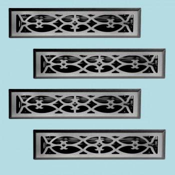 <PRE>4 Floor Heat Register Louver Vent Steel 2 1/4 x 12 Duct </PRE>zoom2