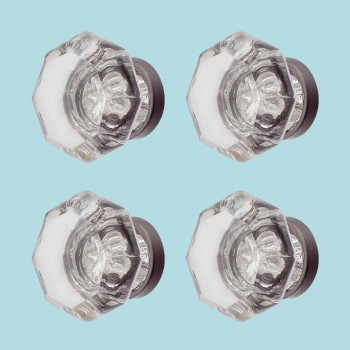 <PRE>4 Cabinet Knob Crystal 1inch Dia Pewter Back </PRE>zoom2