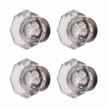 <PRE>4 Cabinet Knob Crystal 1inch Dia Pewter Back </PRE>zoom1
