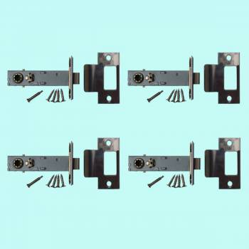 <PRE>4 Stainless Steel Backset Latch Set 2.75inch </PRE>zoom2