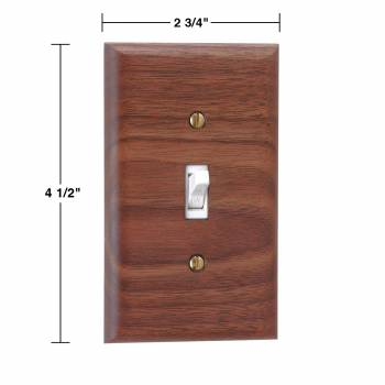 spec-<PRE>4 Switchplate Walnut Single Toggle </PRE>