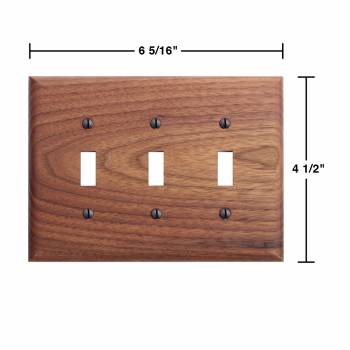 spec-<PRE>4 Switchplate Walnut Triple Toggle </PRE>
