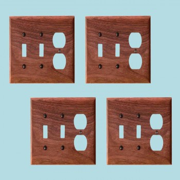 <PRE>4 Switchplate Walnut 2 Toggle/Outlet </PRE>zoom2