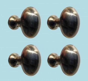 <PRE>4 Cabinet Knob Antique Solid Brass </PRE>zoom2
