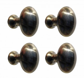 <PRE>4 Cabinet Knob Antique Solid Brass </PRE>zoom1