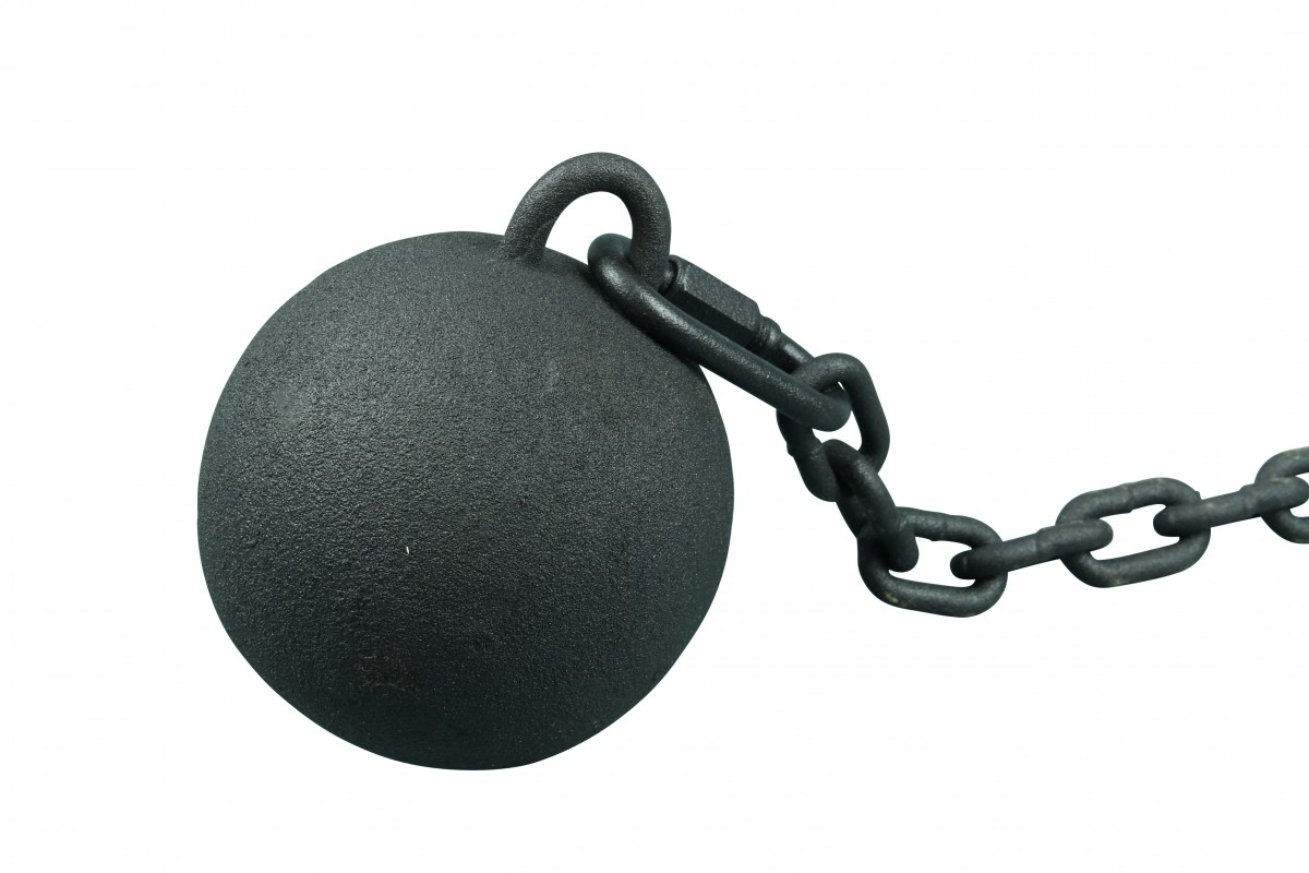 4 Gate Latch Cast Iron Cannonball and 5 Feet Chain Cannon Ball Gate Latch Wrought Iron Gate Closer
