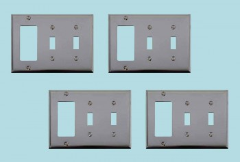 spec-<PRE>4 Switchplate Chrome Double Toggle GFI </PRE>