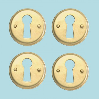 <PRE>Round Keyhole Cover Bright Brass Escutcheon Tarnish Resistant 1 in. diameter Set</PRE>zoom2
