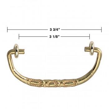 spec-<PRE>6 Solid Brass Bail Pulls Victorian Scalloped  </PRE>