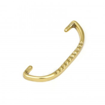6 Solid Brass Bail Pulls Victorian Ribbed Furniture Hardware Cabinet Pull Cabinet Hardware