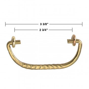 spec-<PRE>6 Solid Brass Bail Pulls Victorian Ribbed  </PRE>