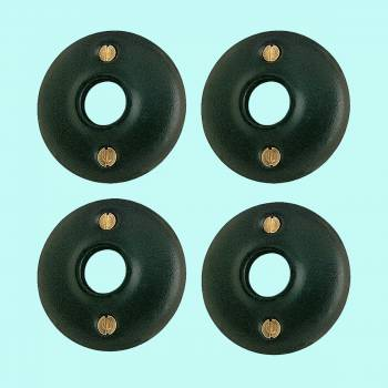 <PRE>4 Colonial Door Knob Rosettes Black Solid Brass 2inch Pair </PRE>zoom2