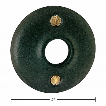 spec-<PRE>4 Colonial Door Knob Rosettes Black Solid Brass 2&quot; Pair </PRE>