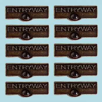 <PRE>10 Switch Plate Tags ENTRYWAY Name Signs Labels Cast Brass </PRE>zoom2
