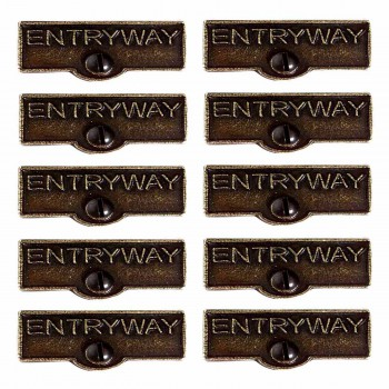 <PRE>10 Switch Plate Tags ENTRYWAY Name Signs Labels Cast Brass </PRE>zoom1