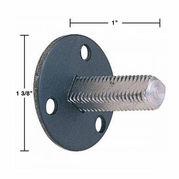 spec-<PRE>Steel Doorknob Dummy Spindle 1-3/8&quot; Vintage Style Pack of 2</PRE>