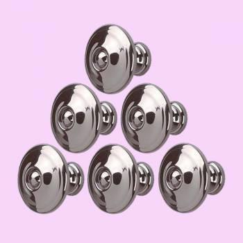 <PRE>6 Cabinet Knob Nickel Black Solid Brass 1inch Dia </PRE>zoom2