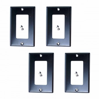 4 Switchplate Black Steel Duplex/GFI Classic Black Steel Switch Plate