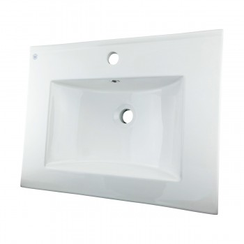 3 Bathroom Dropin Sink Square SelfRimming White Porcelain White Drop In Sink Dropin Bathroom Sink Drop In Rectangular Bathroom Sink