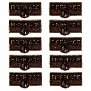 10 Solid Antique Brass Switchplate Tags Fireplace Label Decorative outlet electrical rustic cover metal unique designer plates modern fancy decorator gold colored plate modern faceplates
