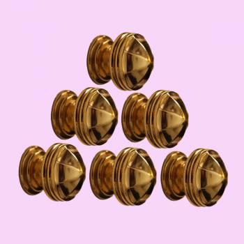 <PRE>10 Cabinet Knob Bright Brass 1 1/4inch Dia Octagonal </PRE>zoom2