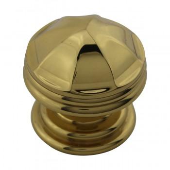 <PRE>10 Cabinet Knob Bright Brass 1 1/4inch Dia Octagonal </PRE>zoom9