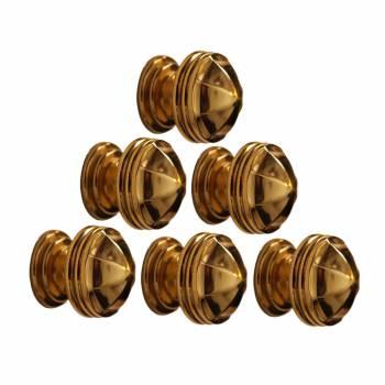 <PRE>10 Cabinet Knob Bright Brass 1 1/4inch Dia Octagonal </PRE>zoom1