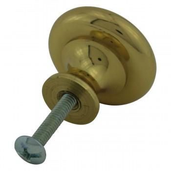 <PRE>4 6 Cabinet Knob Bright Solid Brass 1 1/4inch Dia </PRE>zoom10