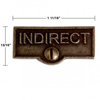 spec-<PRE>10 Switch Plate Tags INDIRECT Name Signs Labels Cast Brass </PRE>