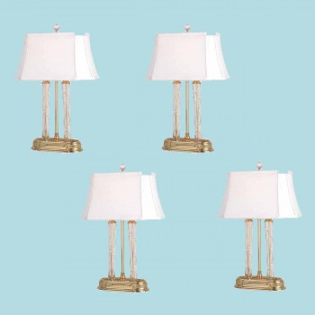 "spec-<PRE>4 Table Lamp Solid Brass Crystal Lamp 21""H </PRE>"