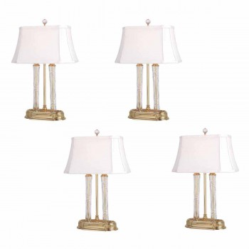 <PRE>4 Table Lamp Solid Brass Crystal Lamp 21&quot;H </PRE>