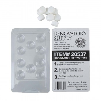 <PRE>2 - 10PK Premium Silicone White Door Stopper Tips 1/4&quot; ID </PRE>
