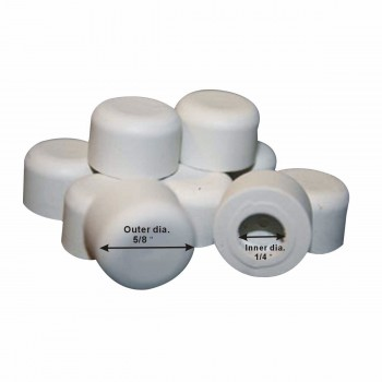 spec-<PRE>2 - 10PK Premium Silicone White Door Stopper Tips 1/4&quot; ID </PRE>